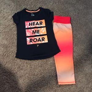 Girls active gear set